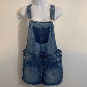 Denim overall shorts by Aqua. Size small